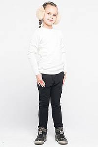 Леггинсы-брюки для девочек классические черные