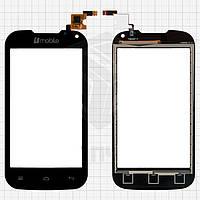 Сенсорный экран (touchscreen, тачскрин) для Nomi i401 Colt, черный, (117x60,5 мм), #Y106060E1-R, оригинал