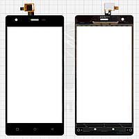 Сенсорный экран (touchscreen, тачскрин) для Nomi i506 Shine, Original, черный, #DJN-48-12050-1356A-00, оригинал
