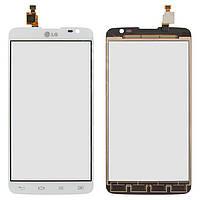 Сенсорный экран (touchscreen, тачскрин) для LG D685 G Pro Lite Dual, D686 G Pro Lite Dual, белый, оригинал