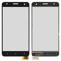 Сенсорный экран (touchscreen, тачскрин) для Nomi i504 Dream; Fly FS504, черный, оригинал