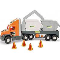 """Грузовик """"Super Tech truck"""" со строительными контейнерами 36760"""