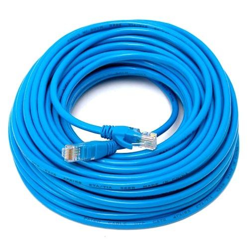 Патч-корд RJ45 15м, сетевой кабель UTP CAT5e 8P8C, LAN, синий
