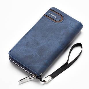Мужской клатч-портмоне BAELLERRY Jeans Young Style на молнии Синий (SUN0249)