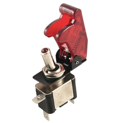 Переключатель, тумблер, выключатель питания 12В 20А LED, красный