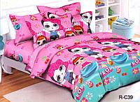 Детский евро комплект постельного белья R-C39