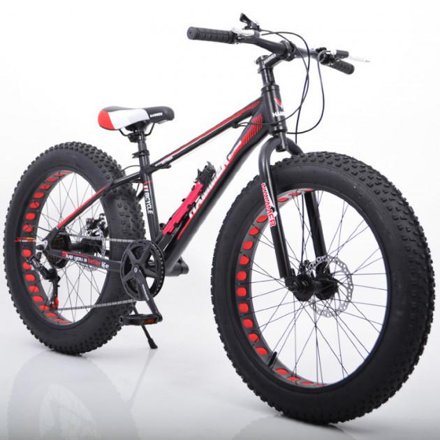 """Фэтбайк Горный велосипед S800 Hammer Extrime Колёса 24''х4,0"""". Алюминиевая рама 15"""""""