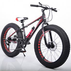 """Фэтбайк Горный велосипед S800 Hammer Extrime Колёса 24''х4,0"""". Алюминиевая рама 15"""", фото 2"""