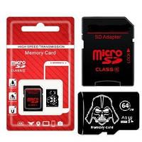 MicroSD карта DarkWeider 64Gb (10 class) с SD адаптером