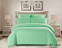 Евро комплект постельного белья Maxiстрайп сатин ST-1003