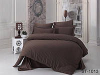 Евро комплект постельного белья Maxiстрайп сатин ST-1013