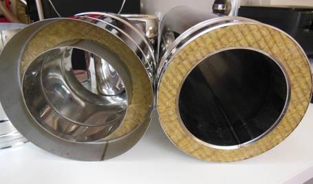 Труба димохідна L 300 мм нерж/оц стінка 0,8 мм 130/200мм, фото 2