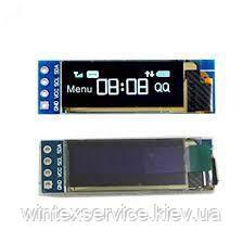 Модуль 0.91 inch IIC Serial White OLED Display Module 128X64 I2C SSD1306 12864 Подробиці: Color Yellow Blue