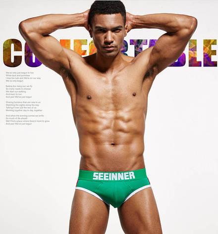 Мужское белье push up  Seeinner хлопок, M, зеленый, маломерный, Китай, M: 78-84 см, L: 85-90 см, XL: 91-95 см, предусмотрен карман (пуш-ап приобретается отдельно), да, фото 2