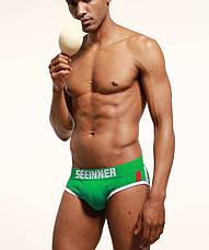 Мужское белье push up  Seeinner хлопок, M, зеленый, маломерный, Китай, M: 78-84 см, L: 85-90 см, XL: 91-95 см, предусмотрен карман (пуш-ап приобретается отдельно), да, фото 3