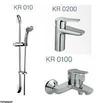 KVADRO Набор смесителей для ванны (KR0200+KR0100+KR010) Koller Pool KR0200+KR0100+KR010