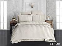 Евро комплект постельного бельястрайп сатин ST-1001