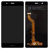 Дисплейный модуль (дисплей и сенсор) для Huawei P9, черный, логотип Huawei, оригинал, EVA-L09 (Single SIM); EVA-L19, EVA-L29 (Dual SIM)