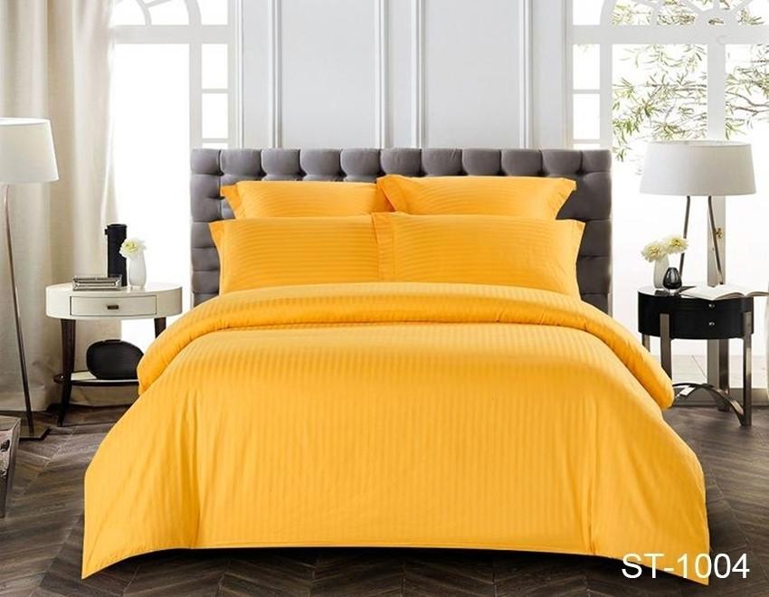 Семейный комплект постельного белья из страйп-сатина ST-1004