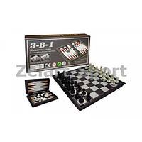 Шахматы, шашки, нарды 3 в 1 дорожные пластиковые магнитные SN-18 (20см x 20см)