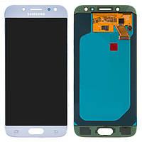 Дисплейный модуль (дисплей и сенсор) для Samsung J530 Galaxy J5 (2017), голубой, оригинал
