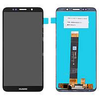 """Дисплейный модуль (дисплей и сенсор) для Huawei Honor 7A 5,45"""", Honor 7s, Y5 (2018), Y5 Prime (2018), черный, логотип Huawei, оригинал, (DUA-L22)"""