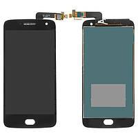 Дисплейный модуль (дисплей и сенсор) для Motorola XT1684 Moto G5 Plus, XT1685 Moto G5 Plus Dual SIM, XT1687 Moto G5 Plus, черный, оригинал