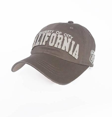 Стильная мужская бейсболка California, серый, фото 2