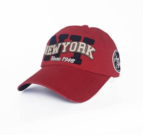 Чоловіча кепка New York, червоний, фото 2