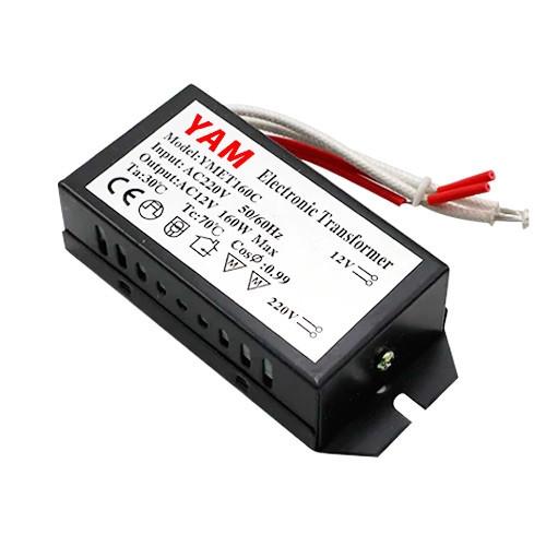 Трансформатор электронный 220В-12В 160Вт для галогенных ламп YMET160C