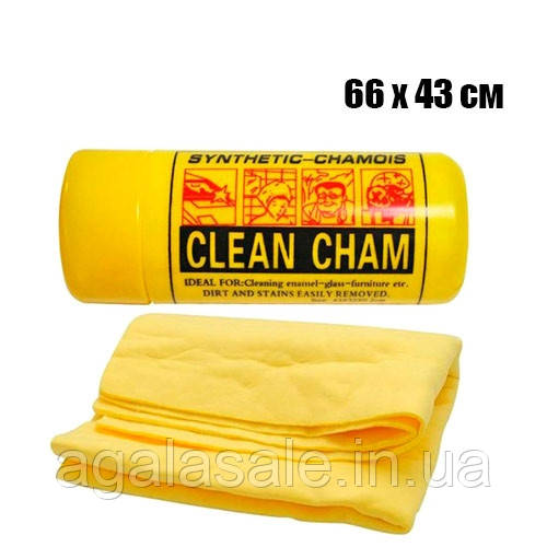 Тряпка салфетка в тубе для автомобиля 66х43см синтетическая Clean Cham