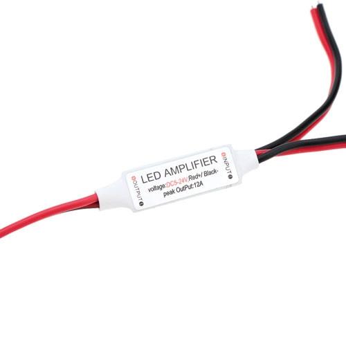 Усилитель повторитель 1к для LED лент, 5-24В, 12А