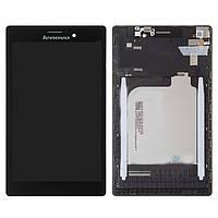 Дисплейный модуль (дисплей и сенсор) для Lenovo Tab 2 A7-10, Tab 2 A7-20F, черный, с рамкой, #BT0700430150928-C/131741E1V1. 6