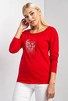 Трикотажный лонгслив-футболка NONNA с длинными рукавами и рисунком черепа