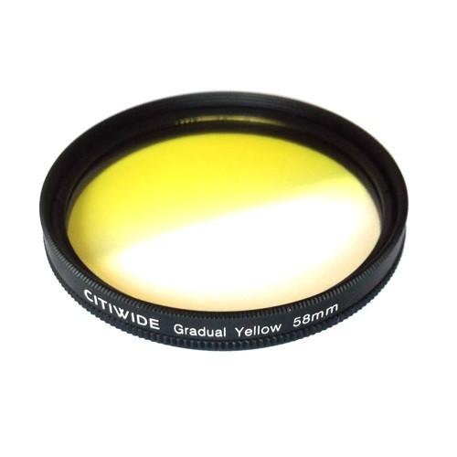 Кольоровий фільтр 58мм жовтий градієнт, CITIWIDE