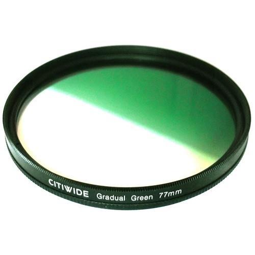 Цветной фильтр 77мм зеленый градиент, CITIWIDE