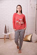 Пижама женская трикотажная   Nicoletta 96290
