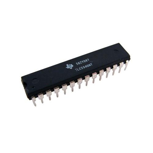 Чип TLC5940NT DIP28, Светодиодный LED драйвер 16кан