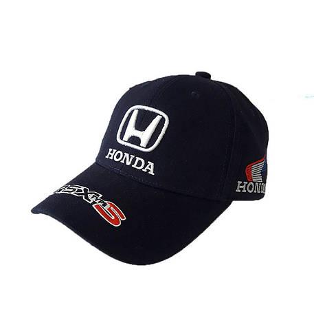 Бейсболка логотип авто Honda, синий, фото 2