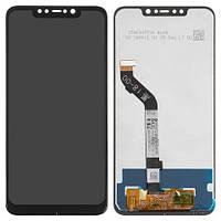 Дисплейный модуль (дисплей и сенсор) для Xiaomi Pocophone F1, черный, оригинал