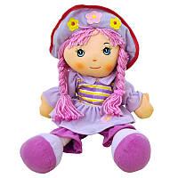 Кукла музыкальная с косичками (2 вида ) р.40х24см
