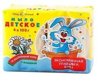 Детское мыло Невская Косметика с ромашкой, 100 г, 4 шт.
