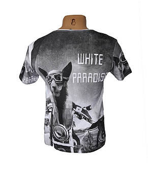 Красивая футболка White Paradise, фото 2