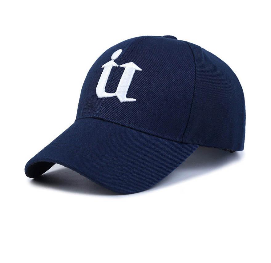 Стильная синяя кепка, синий