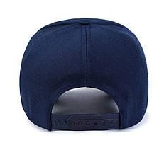 Стильная синяя кепка, синий, фото 2