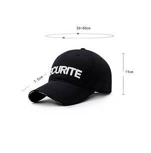 Бейсболка охранника Securite, белый, фото 2