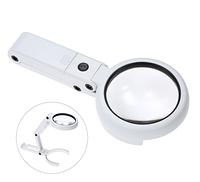 Лупа-трансформер ручна, настільна Magnifier NO.FS37RC з підсвічуванням