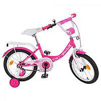 """Велосипед дит. """"Prof1"""" Princess 14"""" №Y1413 дзвінок,доп.колеса,малиновий(1)"""