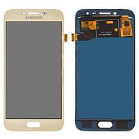 Дисплейный модуль (дисплей и сенсор) для Samsung J250 Galaxy J2 (2018), J250 Galaxy J2 Pro (2018), золотистый, с регулировкой яркости, (TFT)