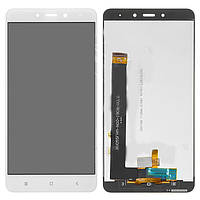 Дисплейный модуль (дисплей и сенсор) для Xiaomi Redmi Note 4, белый, оригинал, MediaTek